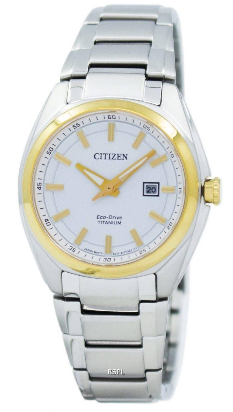 Montre Citizen Eco-Drive titane EW2214-52 a féminin