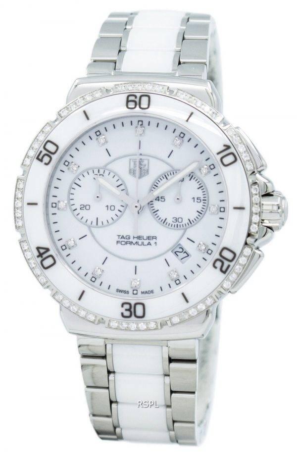 Tag Heuer «Formula One» diamants Accent Chronographe Quartz CAH1213. BA0863 Women Watch