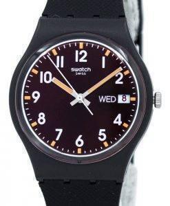 Montre unisexe Swatch Originals Sir rouge Quartz GB753