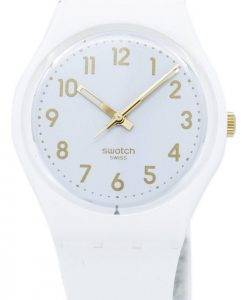 Montre unisexe Swatch Originals blanc évêque Quartz GW164