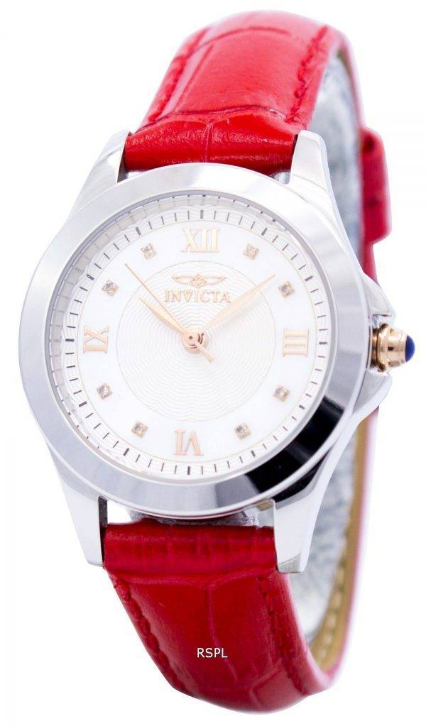 Montre Invicta ange Quartz diamant accentués en cuir sangle 12544 féminin