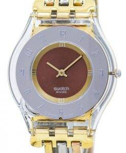 Montre Swatch Skin Tri or Quartz SFK240A féminin