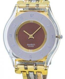 Montre Swatch Skin Tri or Quartz SFK240B féminin