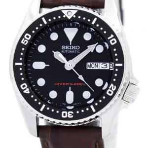 Montre 200M Ratio en cuir brun SKX013K1-LS3 masculine automatique Seiko Diver