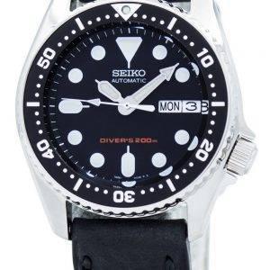 Montre 200M Ratio en cuir noir SKX013K1-LS4 masculine automatique Seiko Diver