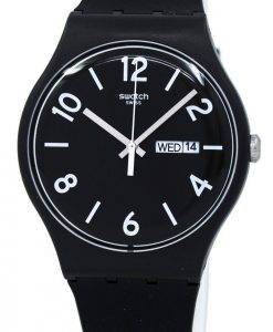 Montre unisexe Swatch Originals sauvegarde Quartz noir SUOB715