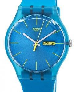 Montre unisexe Swatch Originals Turquoise Rebel Quartz SUOL700