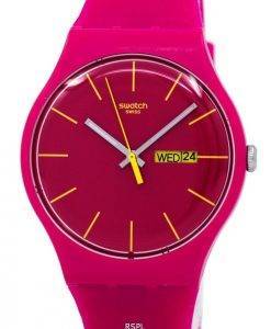 Montre unisexe Swatch Originals Rubine rebelle Quartz SUOR704