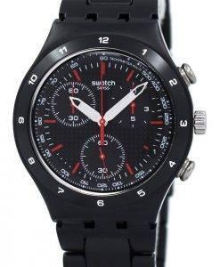 Swatch Irony noir enduit Chorongraph Quartz YCB4019AG montre unisexe