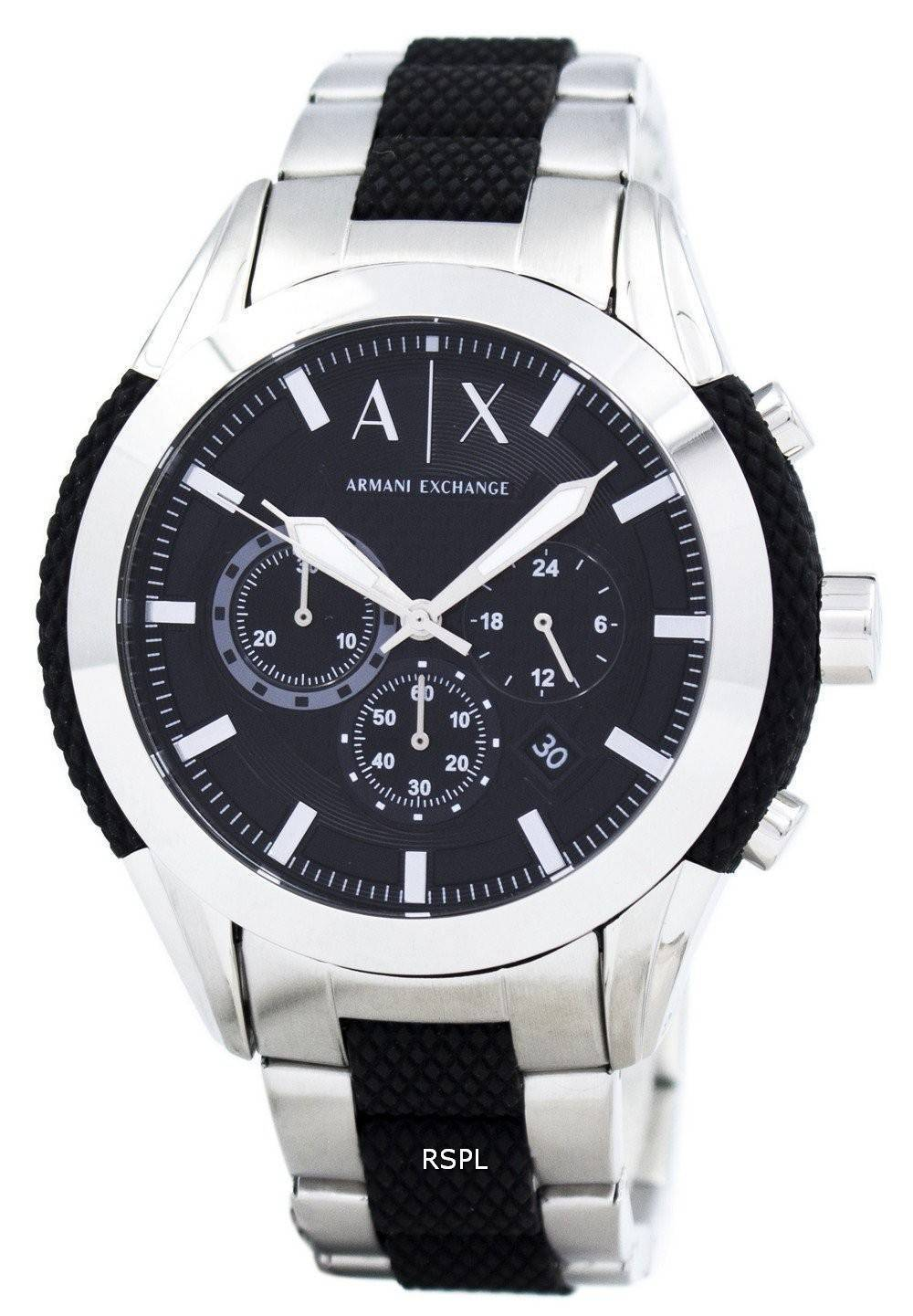 8fd5c3eede Armani Exchange chronographe cadran noir AX1214 montre homme France