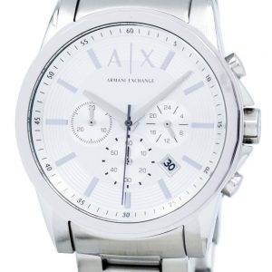 Armani Exchange chronographe cadran argenté AX2058 montre homme