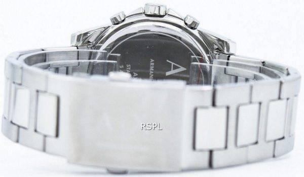 Armani Exchange chronographe cristaux gris cadran AX2092 montre homme