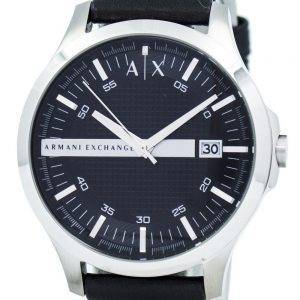 Armani Exchange cadran noir cuir sangle AX2101 montre homme