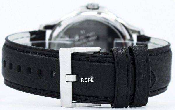 Armani Exchange cadran noir cuir sangle AX2101 montre homme