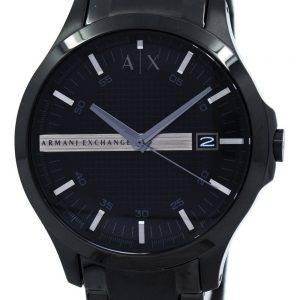 Armani Exchange cadran noir en acier inoxydable AX2104 montre homme