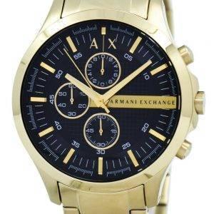 Armani Exchange Quartz doré chronographe cadran noir AX2137 montre homme