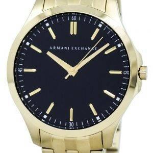 Armani Exchange Quartz cadran noir couleur or en acier inoxydable AX2145 montre homme