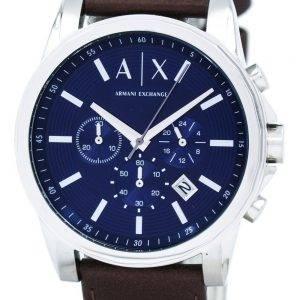Armani Exchange Quartz chronographe cadran bleu AX2501 montre homme