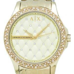Armani Exchange Lady Hampton Champagne matelassé cadran de Cyrstals AX5216 femmes
