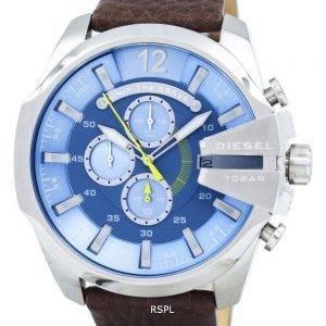 Diesel Mega chef chronographe bleu cadran DZ4281 montre homme