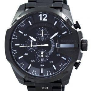 Diesel Mega chef Quartz chronographe cadran gris noir IP DZ4283 montre homme