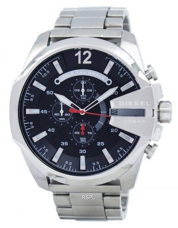 Diesel Mega chef chronographe à Quartz cadran noir DZ4308 montre homme