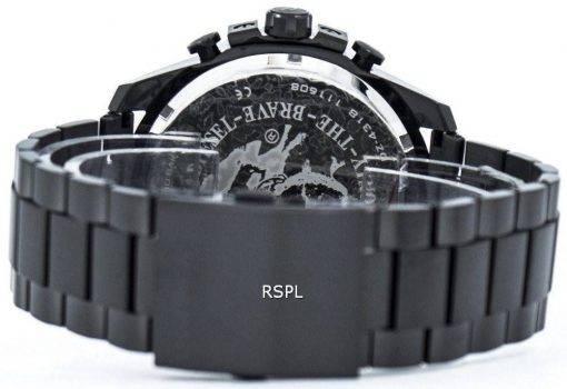 Chef de Mega diesel noir montre homme DZ4318 Dial Brown plaqué Ion