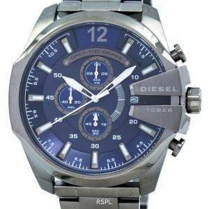Diesel Mega chef chronographe bleu cadran 100M DZ4329 montre homme