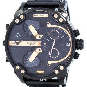 Papa de M. diesel 2.0 surdimensionné montre chronographe cadran noir DZ7312 masculin