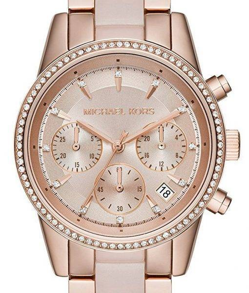 Montre Michael Kors Ritz Chronographe Quartz Crystal Accents MK6307 féminin