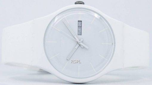 Montre unisexe Swatch Originals Rebel blanc Quartz SUOW701