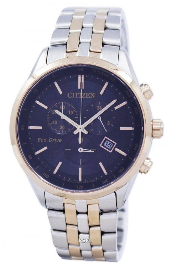Montre Citizen Eco-Drive chronographe tachymètre AT2144-54F masculine