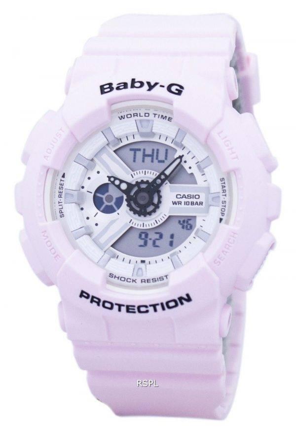 Casio Baby-G résistant aux chocs monde temps analogique numérique BA-110BE-4 a Women Watch