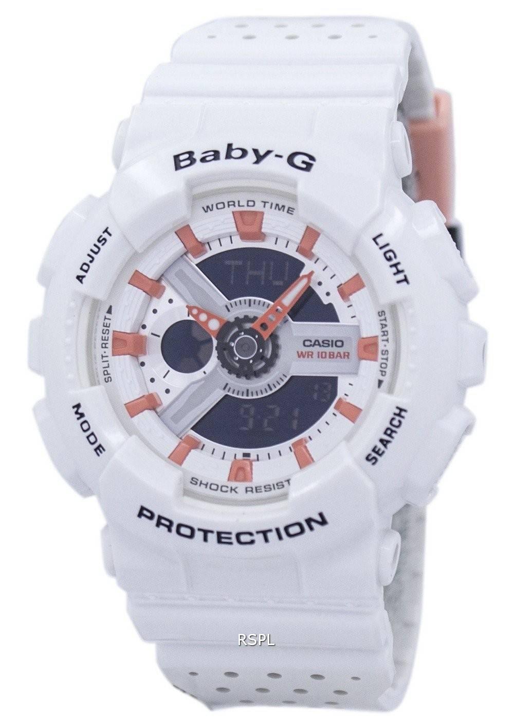 Résistant Baby Numérique Ba A Temps Monde 2 Chocs 110pp G Analogique 7 Aux Casio Women Watch 7b6gfyIYvm