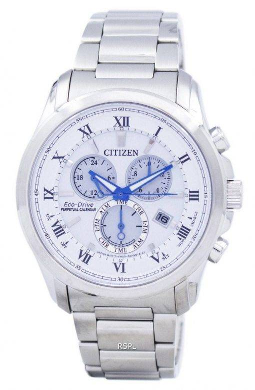 Montre Citizen Eco-Drive chronographe quantième perpétuel BL5540-53 a masculine