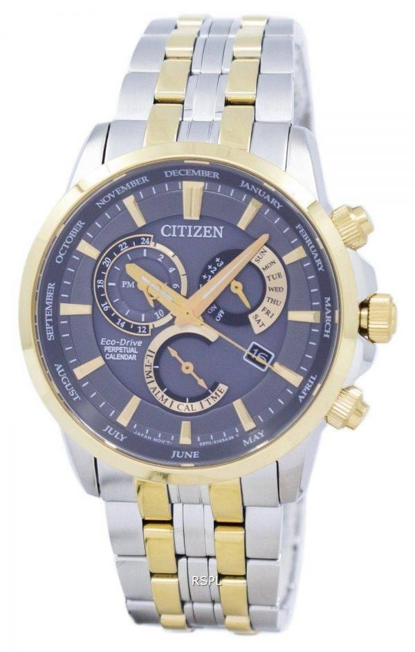 Montre Citizen Eco-Drive chronographe quantième perpétuel alarme BL8144 - 89H masculin