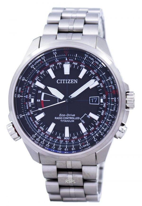 Citizen Eco-Drive Radio Controlled calendrier perpétuel monde temps CB0141-55E montre homme