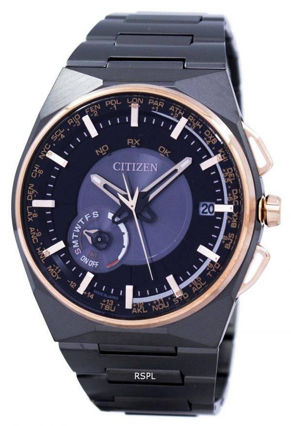 Citizen Eco-Drive Satellite vague calendrier perpétuel Japon fait CC2004-59E montre homme