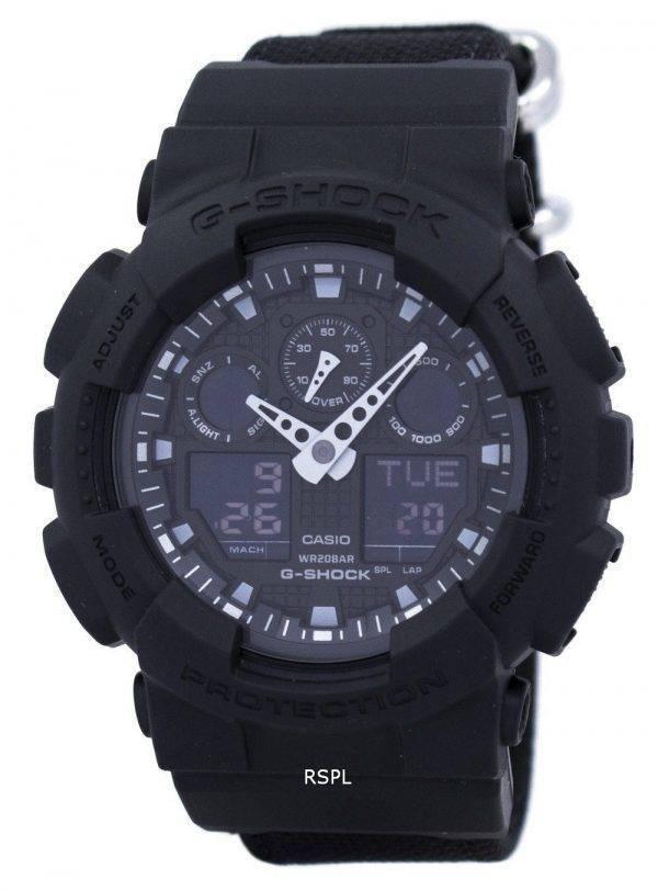 Casio G-Shock analogique numérique résistant aux chocs 200M GA-100BBN-1 a montre homme