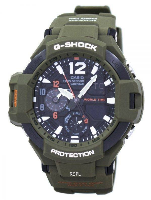 Casio G-Shock Gravitymaster Analog Digital Twin Sensor monde temps GA-1100KH-3 a montre homme