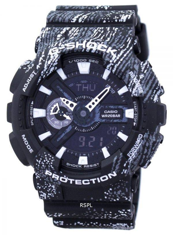 Casio G-Shock monde résistant aux chocs heure alarme analogique numérique GA-110TX-1 a montre homme