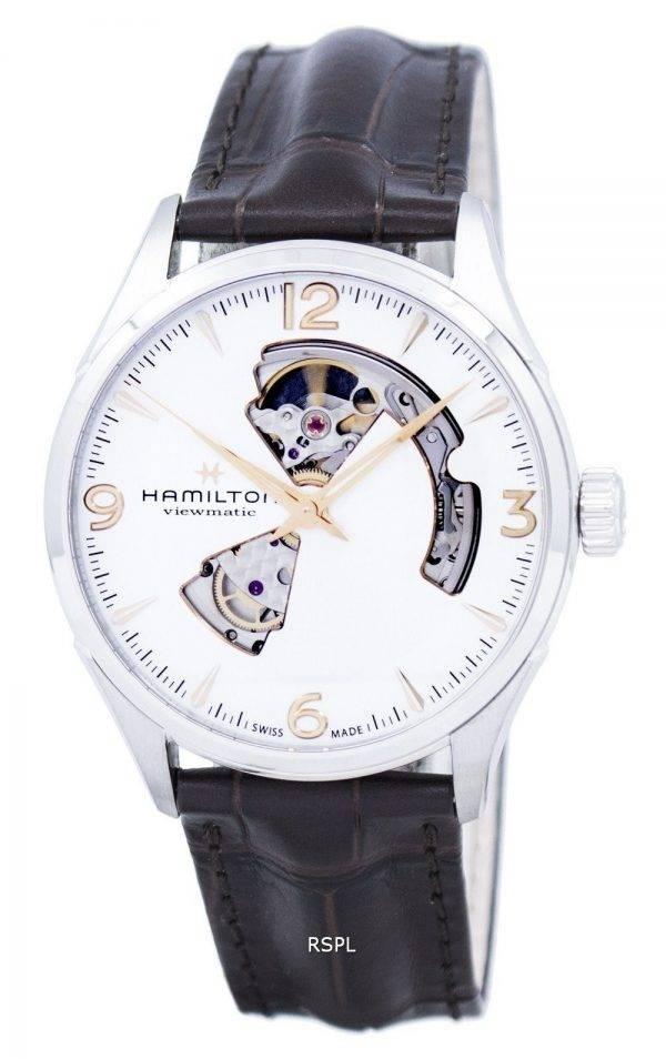 Montre Hamilton Jazzmaster hommes coeur ouvert automatique H32705551 masculin