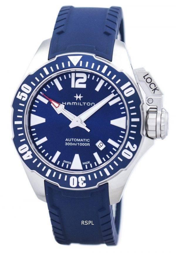 Montre Hamilton Khaki Frogman marine automatique H77705345 masculin