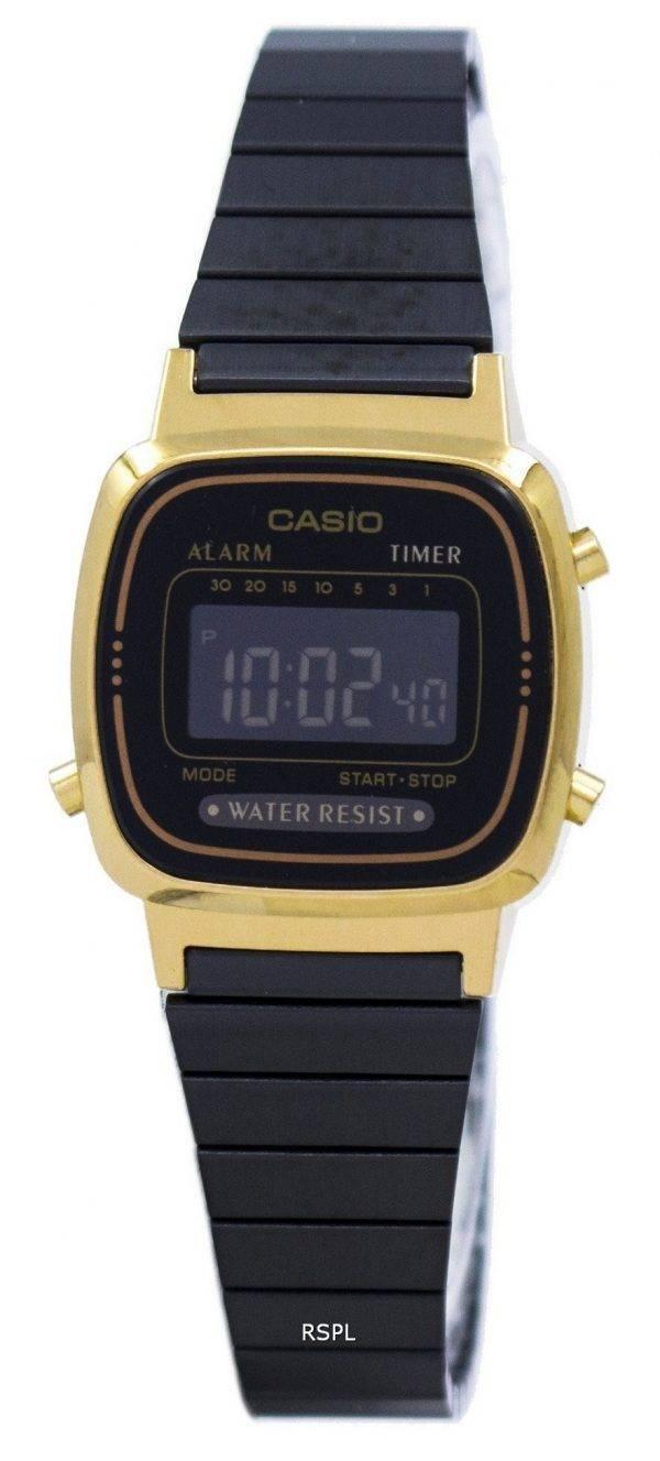 Montre Casio Vintage alarme numérique LA670WEGB-1 b féminin