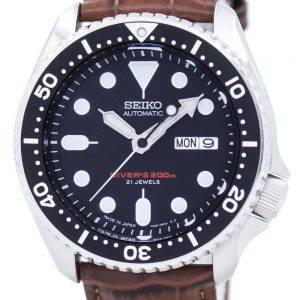 Watch Ratio en cuir brun SKX007J1-LS7 200M hommes Seiko automatique montre de plongée