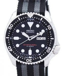 Seiko automatique montre de plongée l'OTAN Strap 200M SKX007J1-NATO1 montre homme