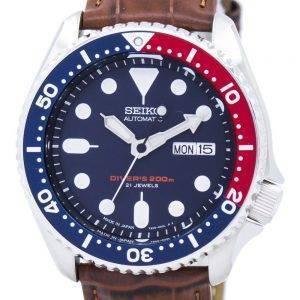 Watch Ratio en cuir brun SKX009J1-LS7 200M hommes Seiko automatique montre de plongée