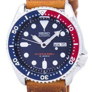 Watch Ratio en cuir brun SKX009J1-LS9 200M hommes Seiko automatique montre de plongée
