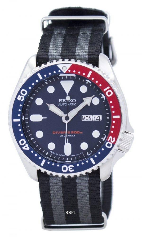 Seiko automatique montre de plongée l'OTAN Strap 200M SKX009J1-NATO1 montre homme