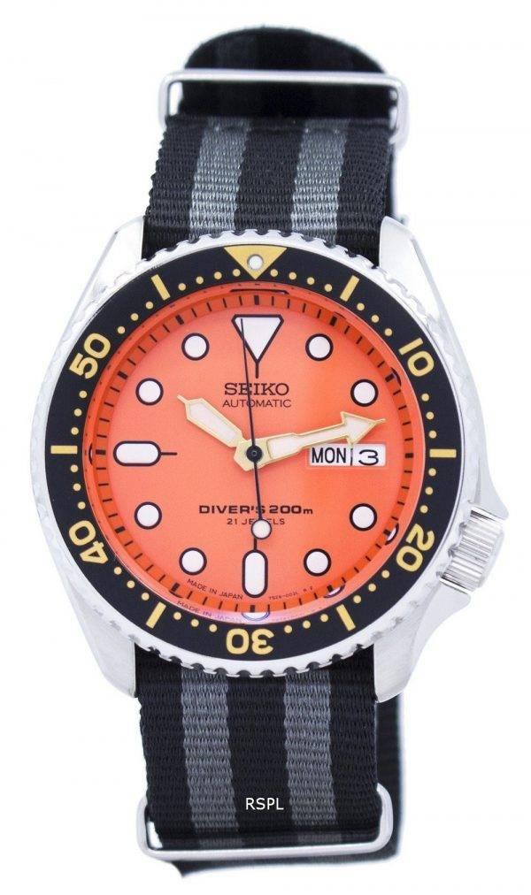 Montre 200M NATO bracelet SKX011J1-NATO1 masculine automatique Seiko Diver